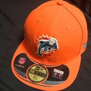 Miami dolphins fitted (7 1/8) hat